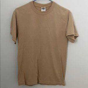 Plain tan tshirt